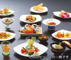 宴会料理 会席コース6,480円の例
