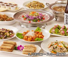 宴会料理 オリジナルコース5,400円の例